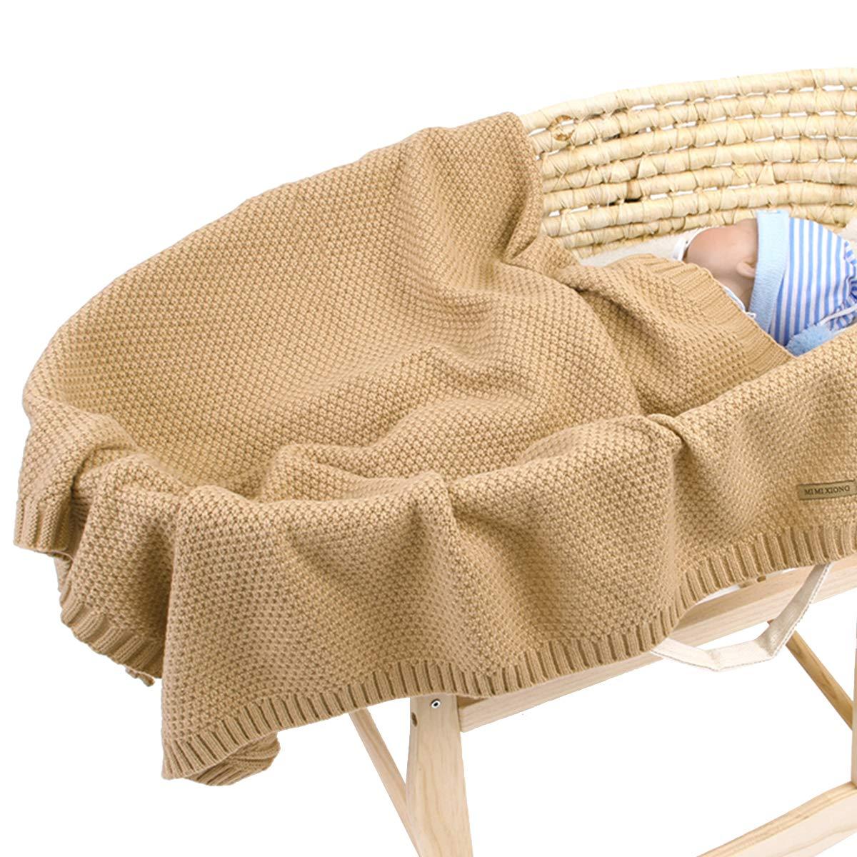 Leyeet Baby Jungen M/ädchen Decke Strick H/äkeldecke Neugeborene Kinderwagen Puckdecke Farbe w/ählbar