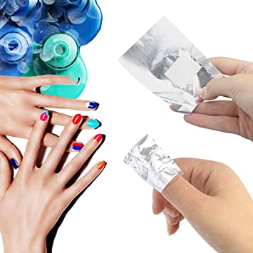 Mifengdaer 300 Pack Nail Foil Wraps Gel Nail Remover Wraps Aluminium