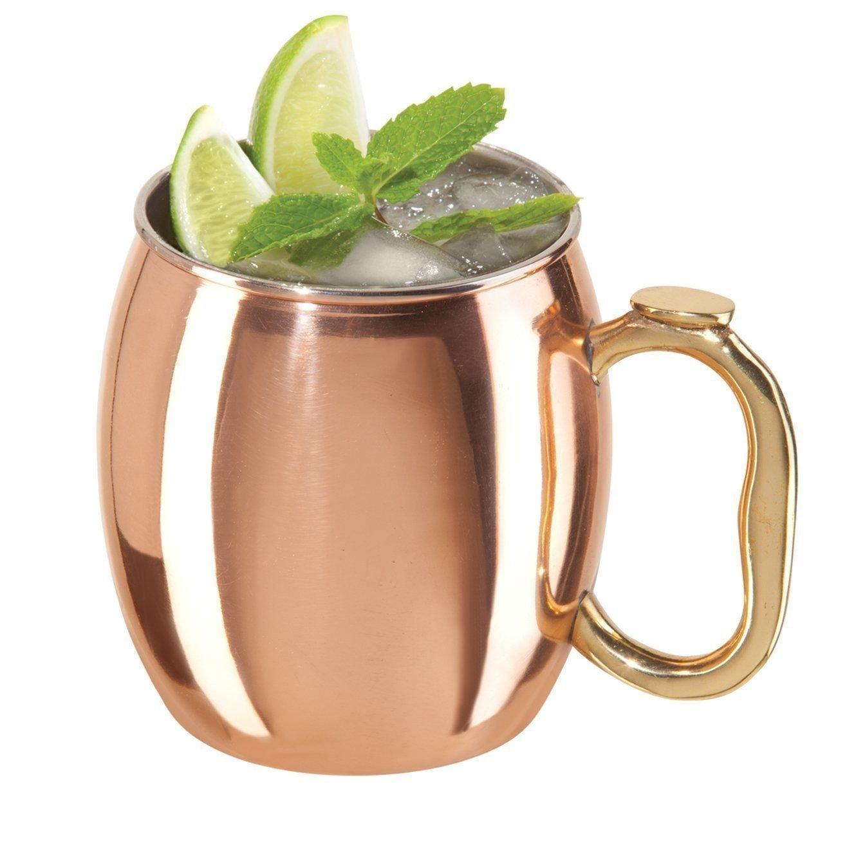 OliaDesign Handmade Hammered Moscow Mule Mug (Set of 2), 16 oz, Copper ...