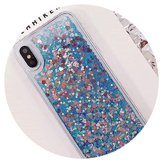 Image Unavailable. Image not available for. Color  Love Heart Glitter Phone  Case for iPhone X XR XS MAX Liquid Quicksand ... 2655b0b60a53