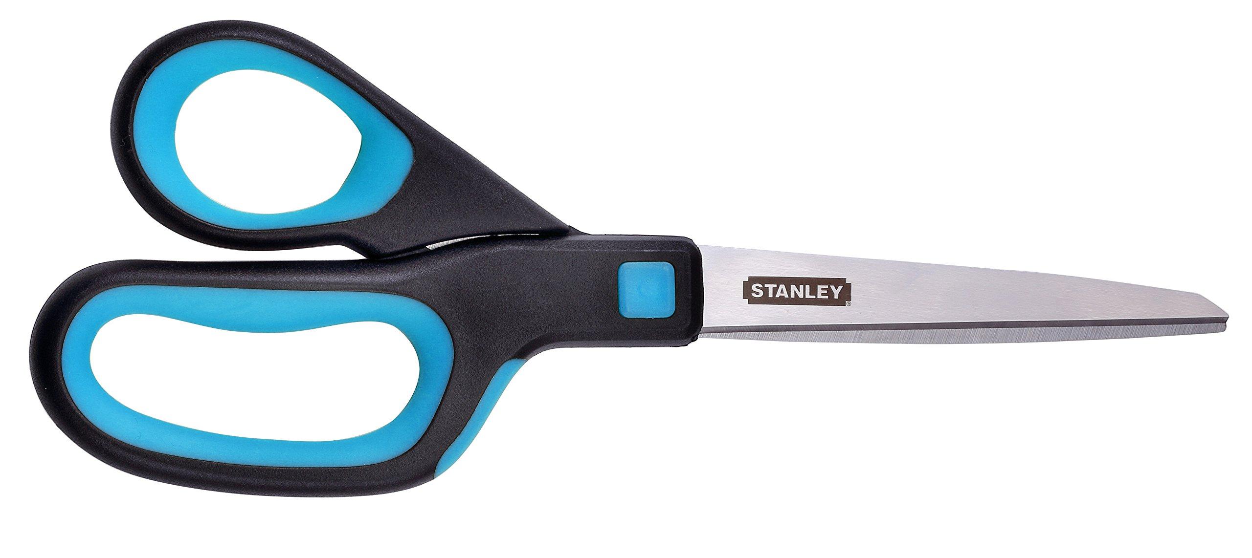 Stanley 8 Inch All-Purpose Ergonomic Scissor (SCI8EST-TEAL), Teal/Black