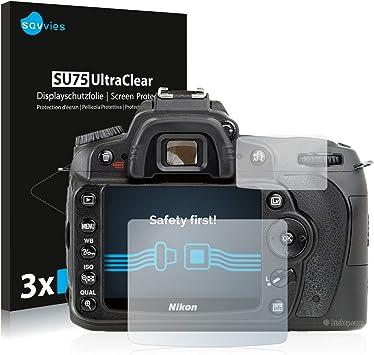 savvies Protector Pantalla Compatible con Nikon D90 (6 Unidades ...