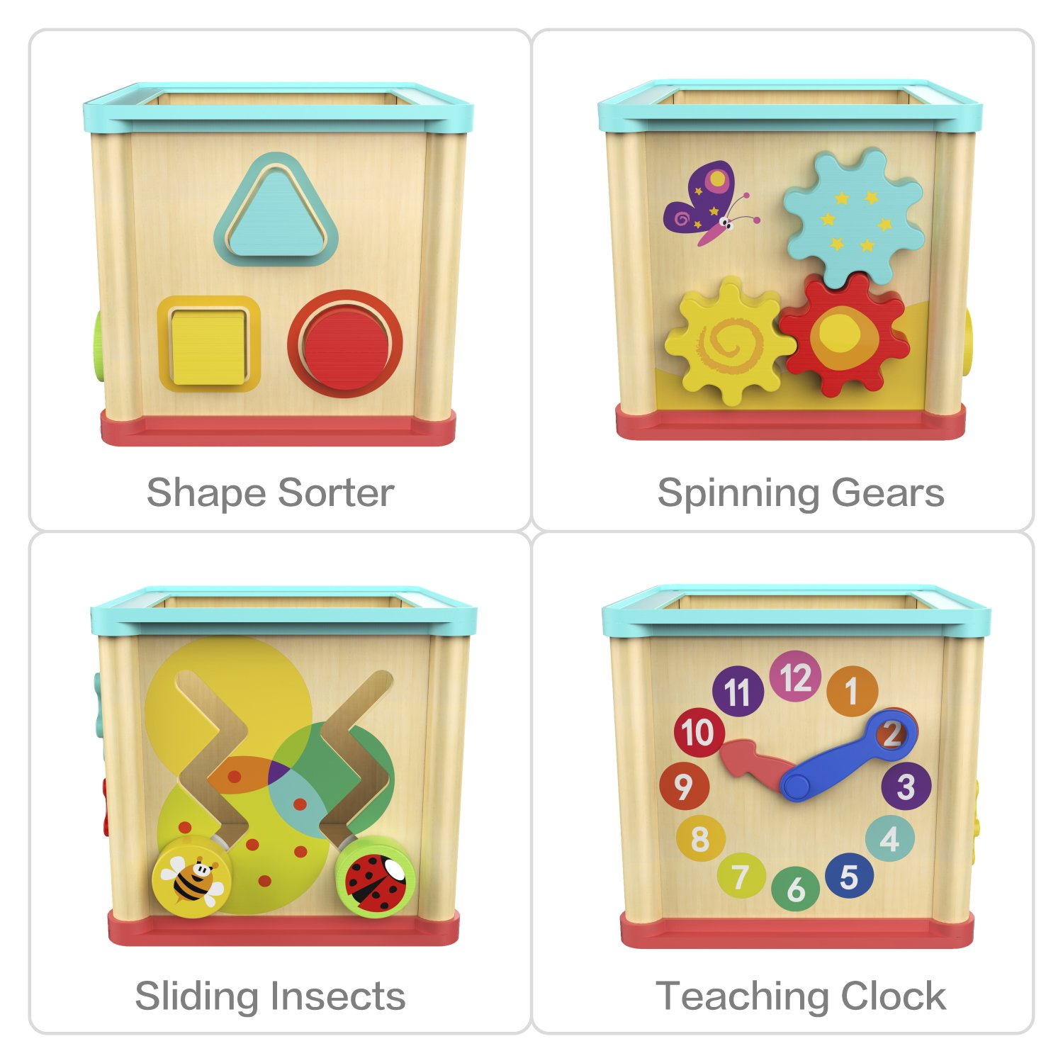Top Bright Activity Cube Wooden Toys For One Year Old Girl