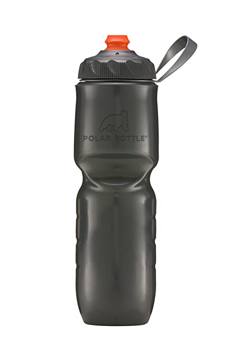 POLAR BOTTLE THERMAL INSULATED 24oz CHARCOAL WATER BOTTLE