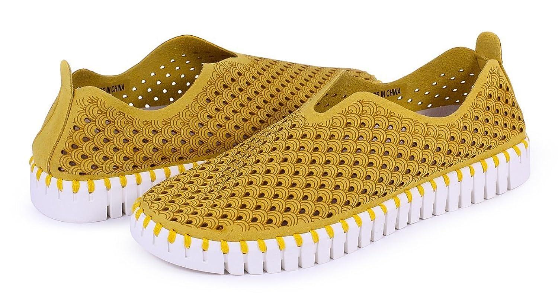 ILSE JACOBSEN Tulip 139 Golden Rod Scalloped Sneaker B072LQ21LL 42 EU (10 M US womens)