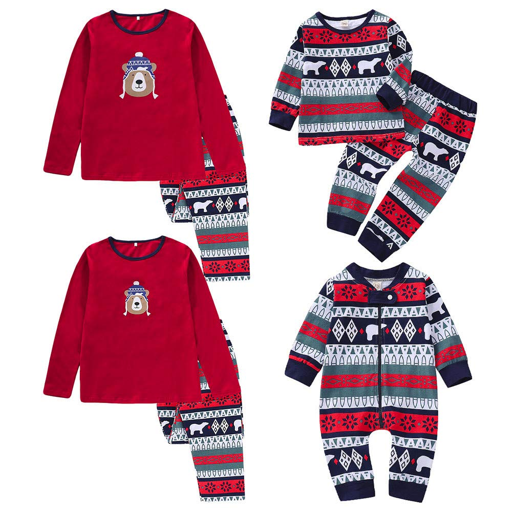 Lurryly❤Family Matching Pjs for Christmas Kids Women T Shirt Pants Pajamas Sleepwear Outfits PLOT