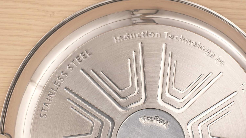 antiadherente de acero inoxidable Tefal Daily Cook Wok de 28 cm para todo tipo de cocinas incluido inducci/ón