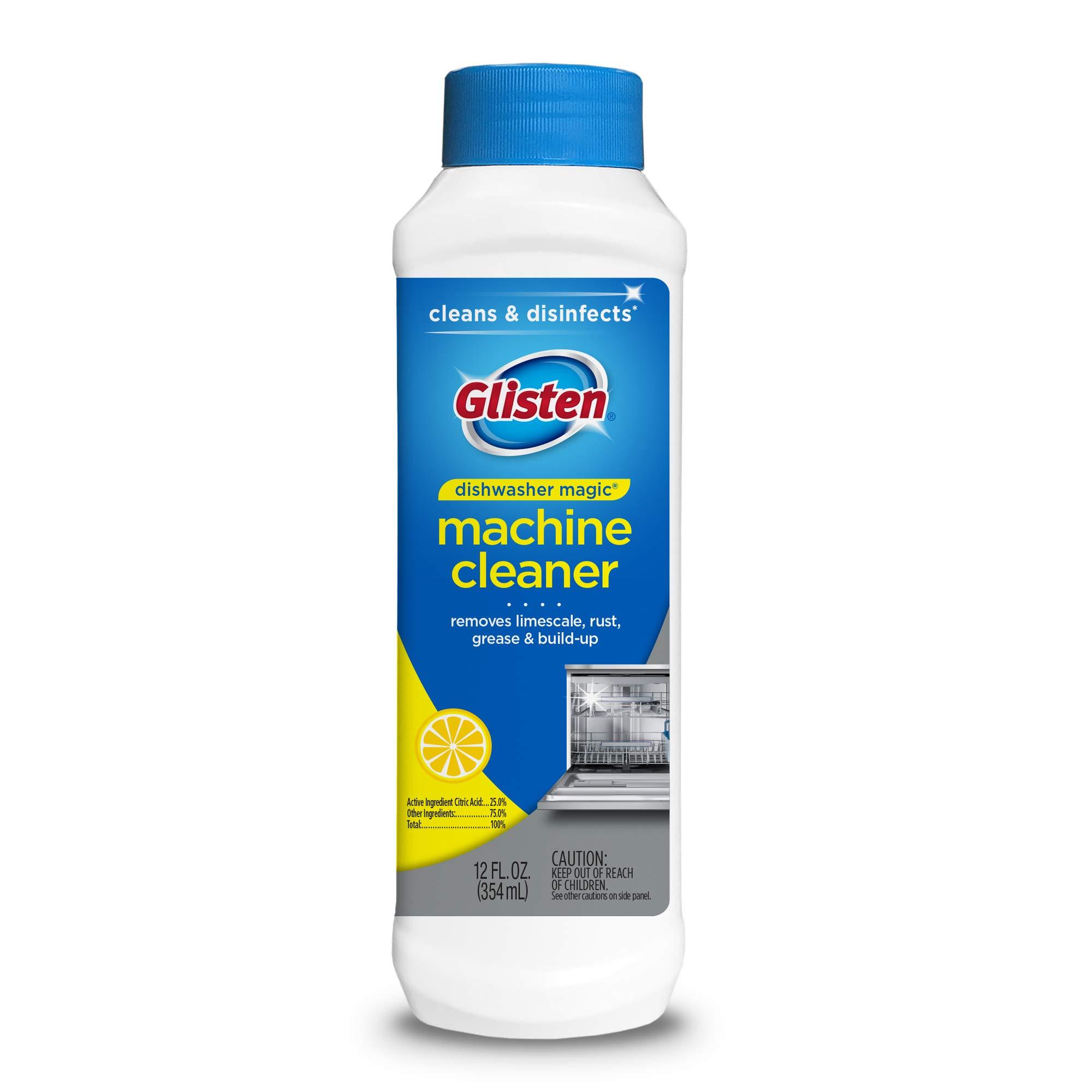 Glisten Dishwasher Magic Cleaner and Disinfectant, 12 Fl. Oz. Bottle, 6 Pack