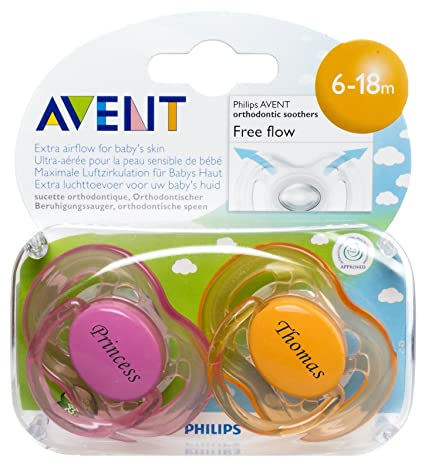 Personalised Gifts - sin BPA de Philips Avent chupetes (2 ...