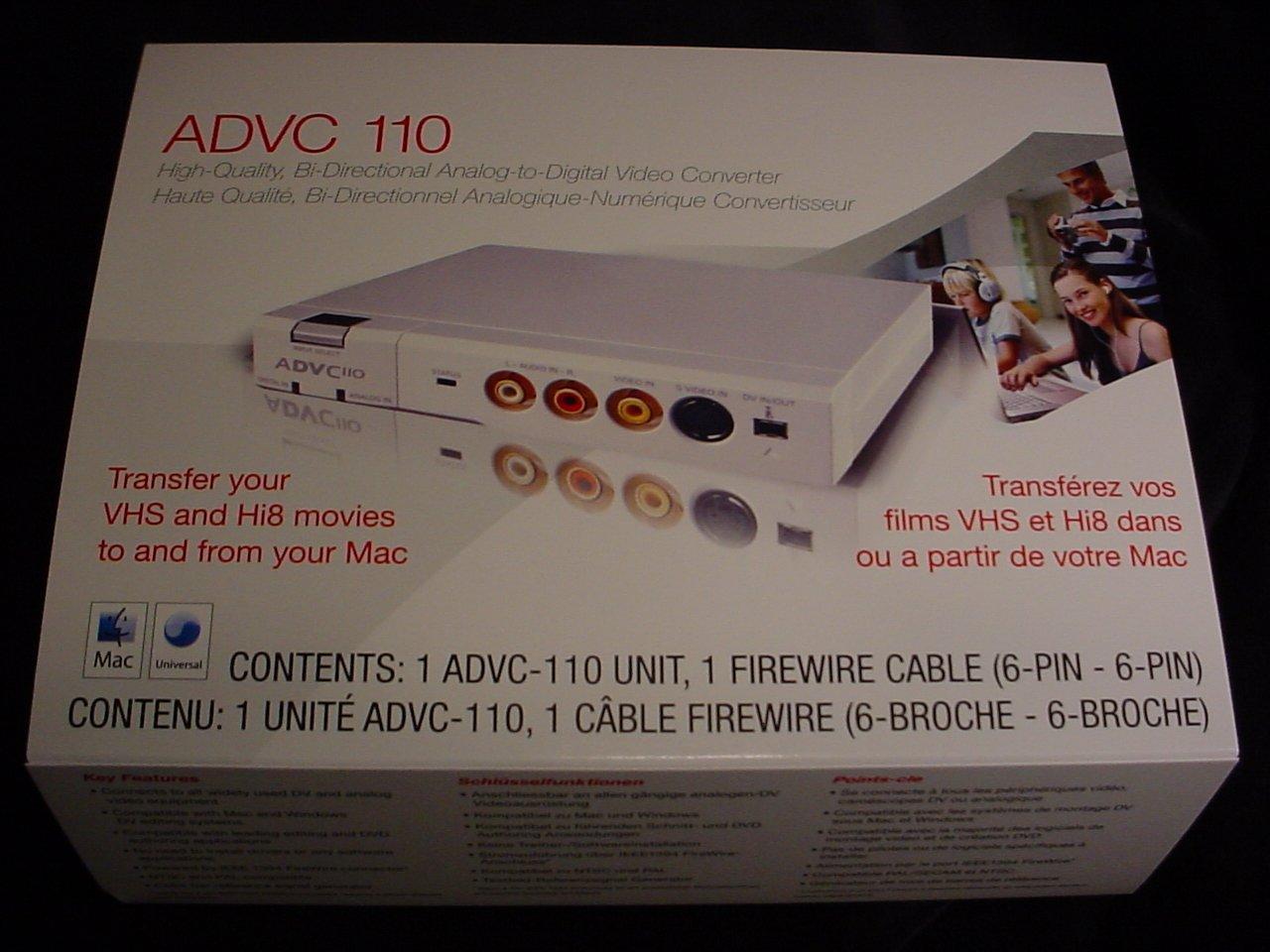 Amazon.com: Canopus ADVC 110 - Video input adapter - IEEE 1394 ...