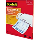 Scotch Thermal Laminating Pouches BXD3, 8.9 x 11.4 -Inches, 3 mil Thick, 200-Pack