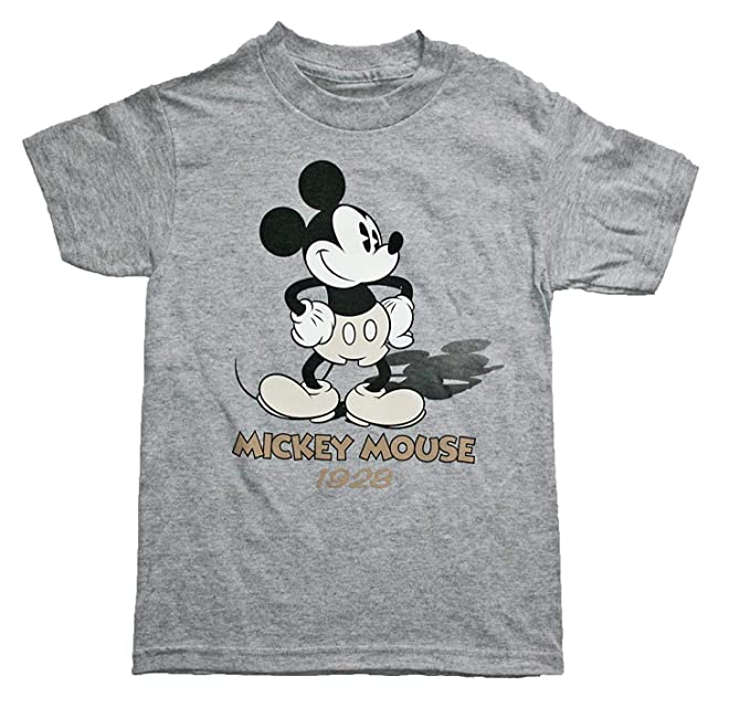 41bd89f22 Amazon.com: Mickey Mouse Boys 4-16 Now & Then 2-sided T Shirt: Clothing