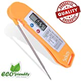 iMallCoo Instant Read Food Thermometer with LCD Screen (Orange)