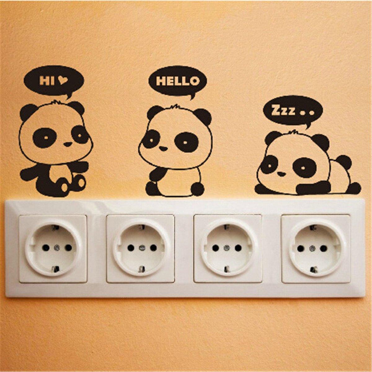 Pegatinas de oso panda