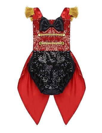 YiZYiF Disfraz Domador Bebés Body Brillante Chaqueta Rojo de ...