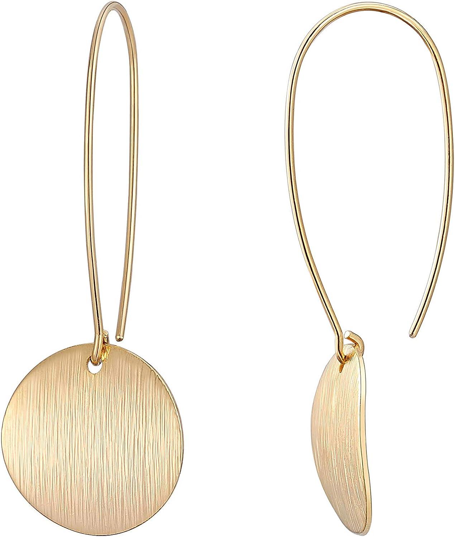 hanging hoop earrings