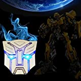 HengJia Auto Parts NEW coming Car Solar energy decoration Transformers Sticker Logo Metal 3D Decepticons Emblem Badge Decal Truck Auto Solar energy led Styling Warning Lamp (Optimus prime)