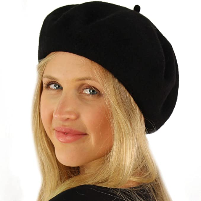 Women Solid Wool Beret French Artist Warm Beanie Hat Winter Ski Cap 13 Colors DB