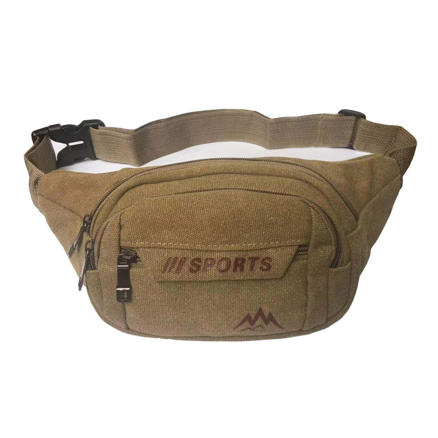 Leather Travelling Waist Bag Four Big Pockets Travel Hiking Back Packers Bumbag