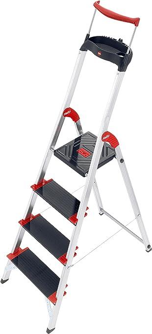 Hailo 8010-407 Escalera de tijera aluminio (4 peldaños): Amazon.es: Bricolaje y herramientas