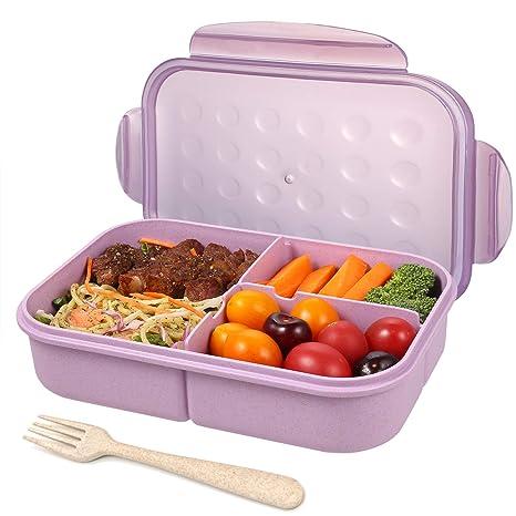 Amazon.com: Bento - Fiambrera para niños con 3 ...