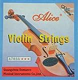 Alice cuerdas cuerdas de acero de violín para violín y violín