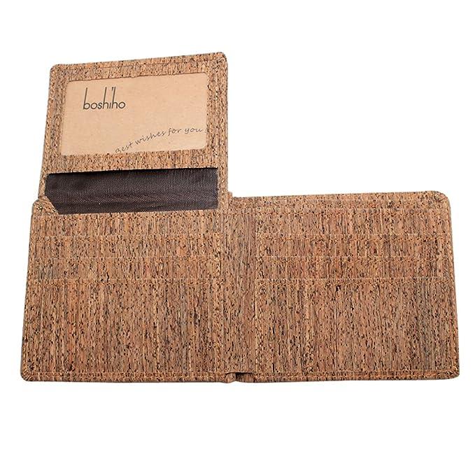 Amazon.com: BOSHIHO Eco Friendly corcho Wallet Slim Bifold ...