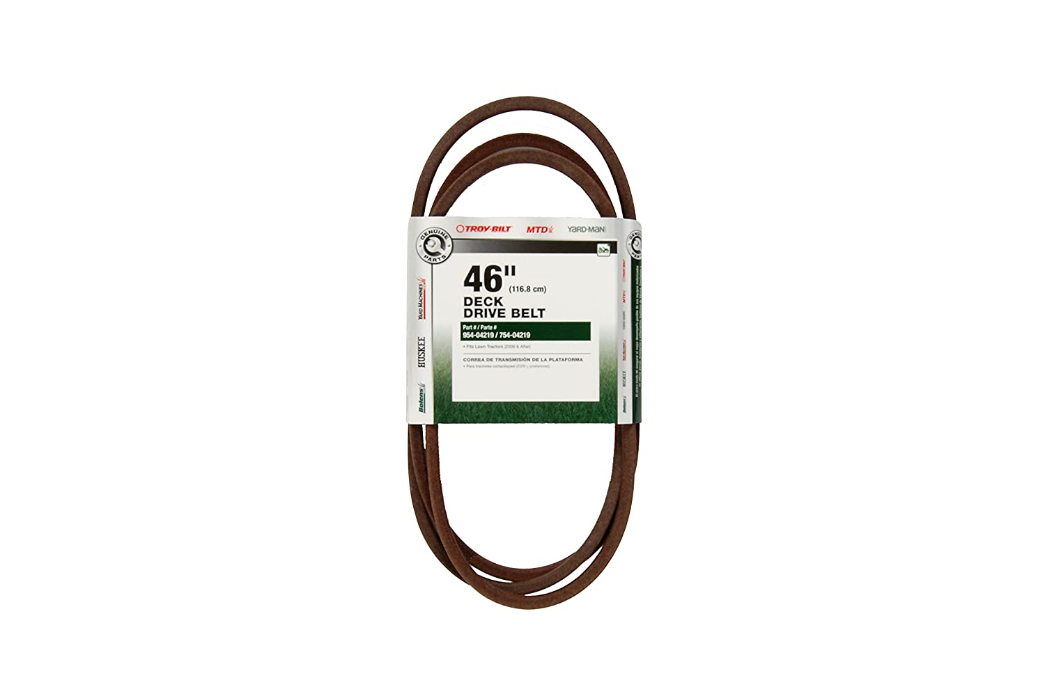 Mtd Genuine Parts 46 Inch Deck Drive Belt For Tractors 48 Mower Diagram Besides Lawn 2009 After Belts Garden Outdoor