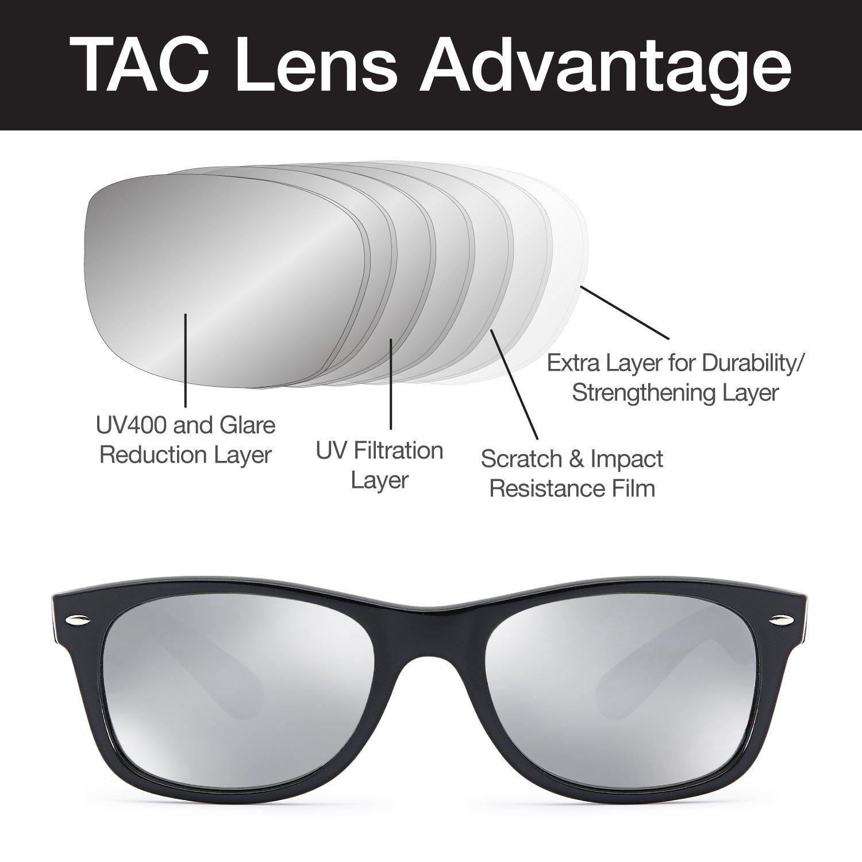 65cb741c01 Amazon.com  Gamma Ray Polarized UV400 Classic Style Sunglasses with Mirror  Lens
