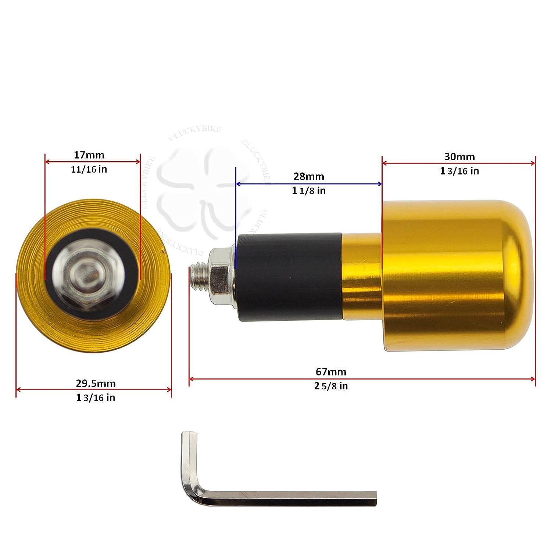 Handle Bar End CNC Slugger Carbon Hollow 7//8 Bars 6mm Slug Weight Slider