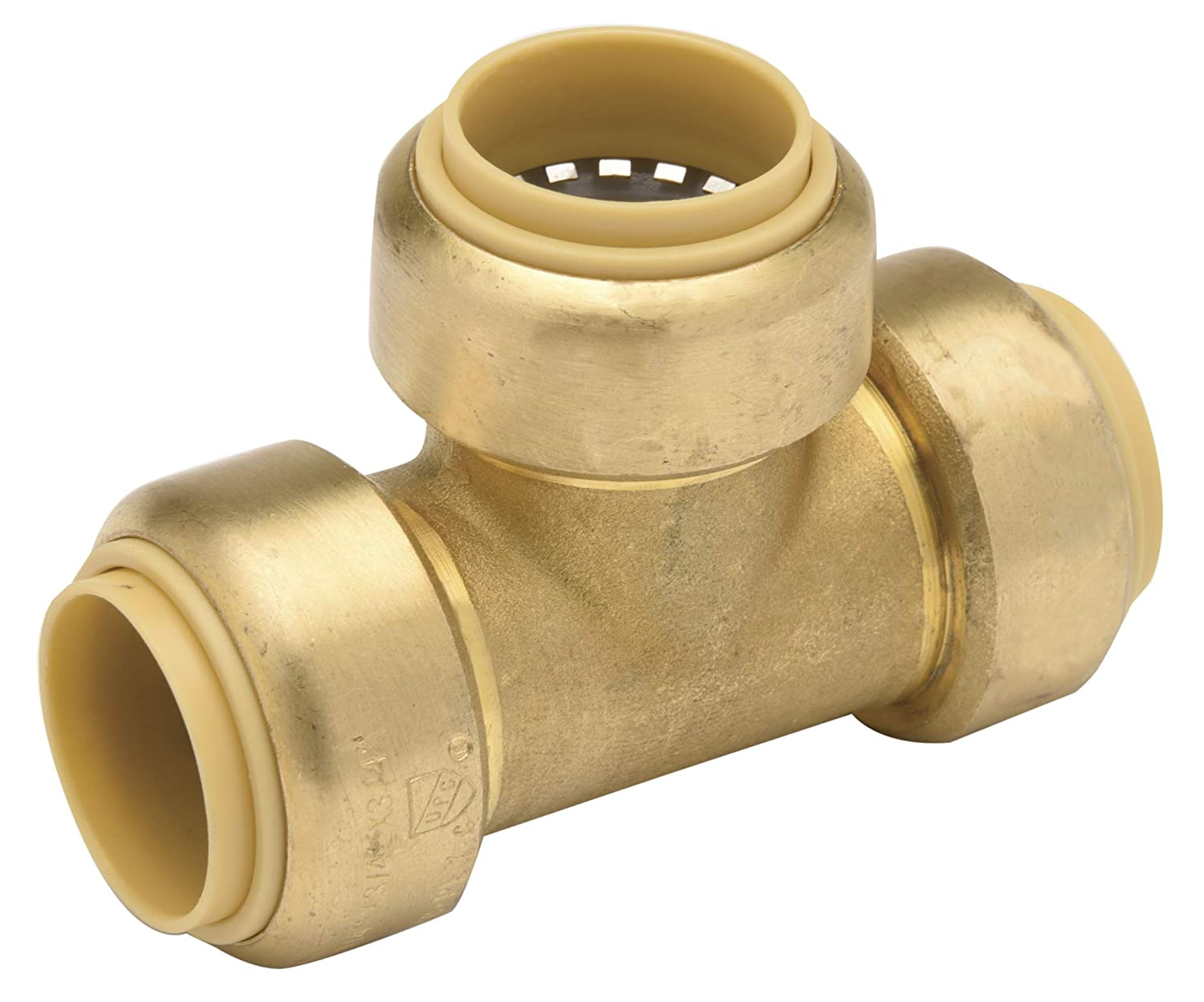 X-Large Brass 3//4 X 3//4 X 1//2 Push Connection Copper Pack of 6 Zurn QQZBT443G Z-Bite Reducing Tee