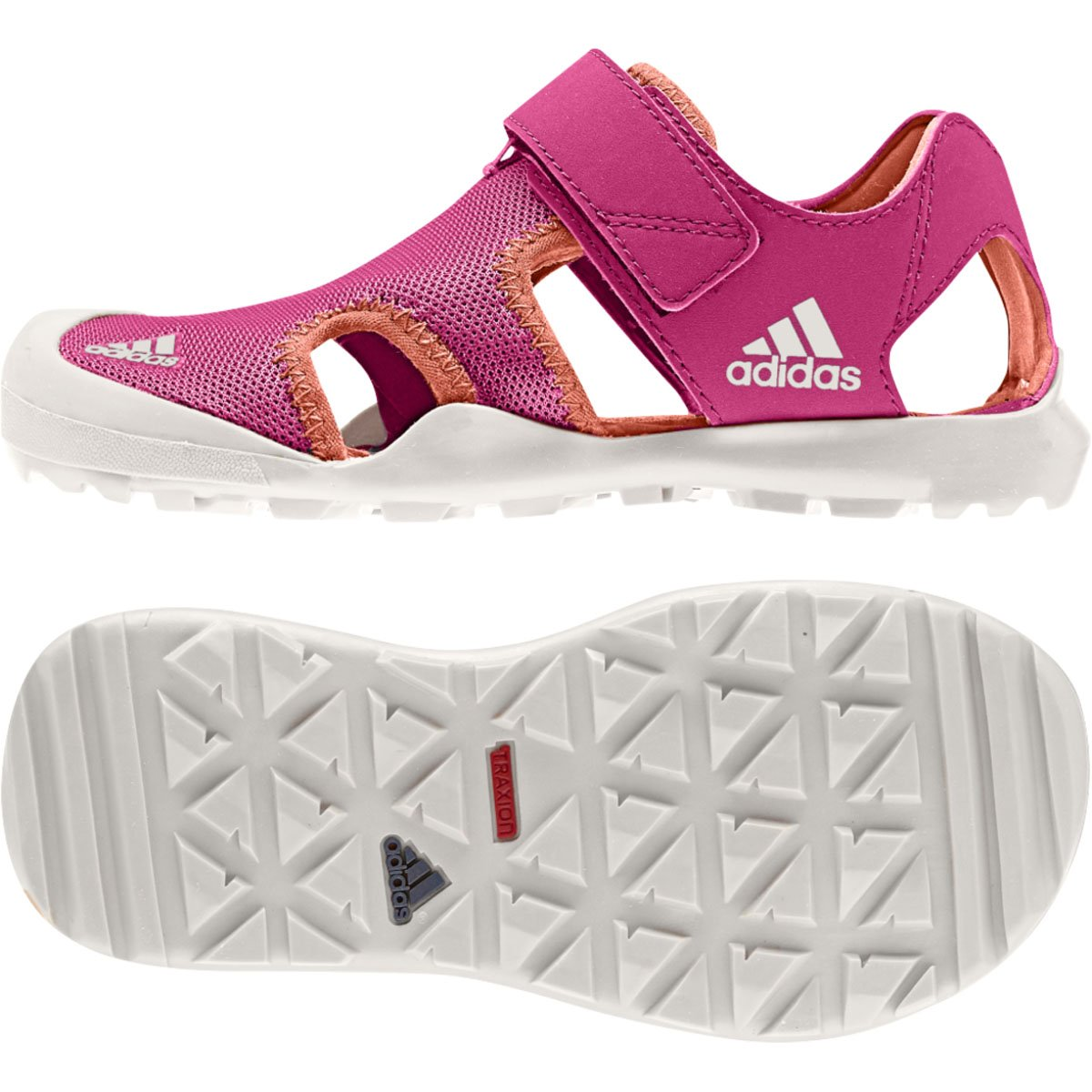 san francisco 70a31 7a264 Amazon.com adidas Outdoor Kids Baby Girls Captain Toey (ToddlerLittle  KidBig Kid) Bold PinkSun GlowChalk White Sandal Shoes