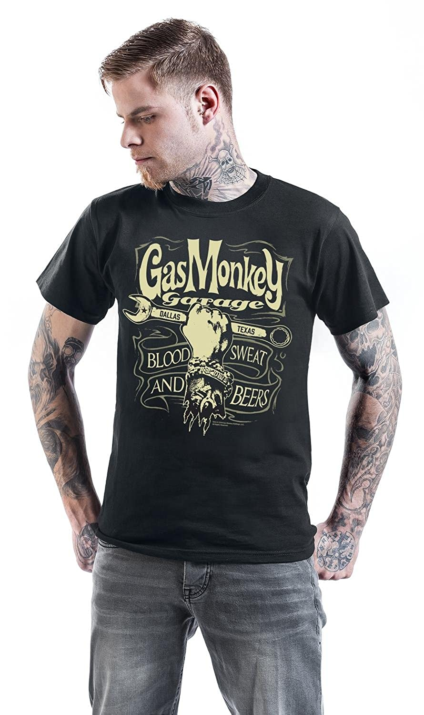 Gas Monkey Garage Garage Wrench Label T-Shirt black