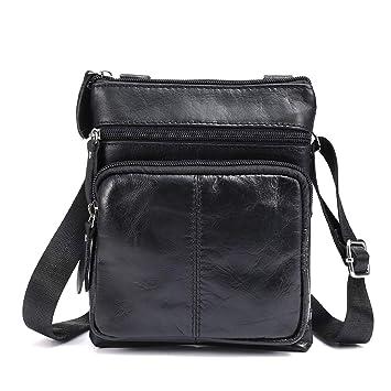32ac8eef390a OURBAG Casual Men s Leather Shoulder Bag Vintage Sport Crossbody Bag  Business Bag Small Satchel Bag Sling