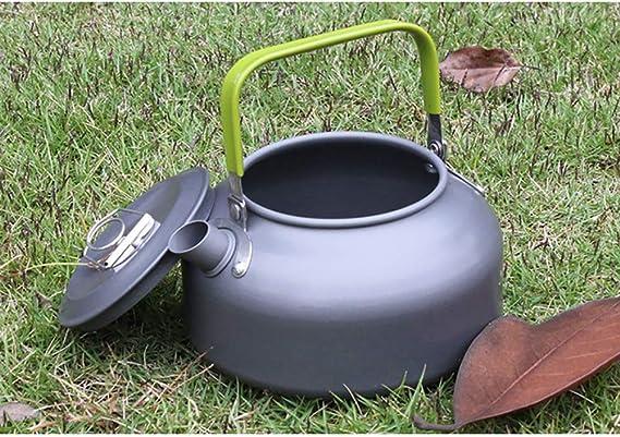para Senderismo Camping Ultraligera Saiko Acampada 0.8 L Agua Picnic Tetera de Aluminio anodizado para Camping Camping