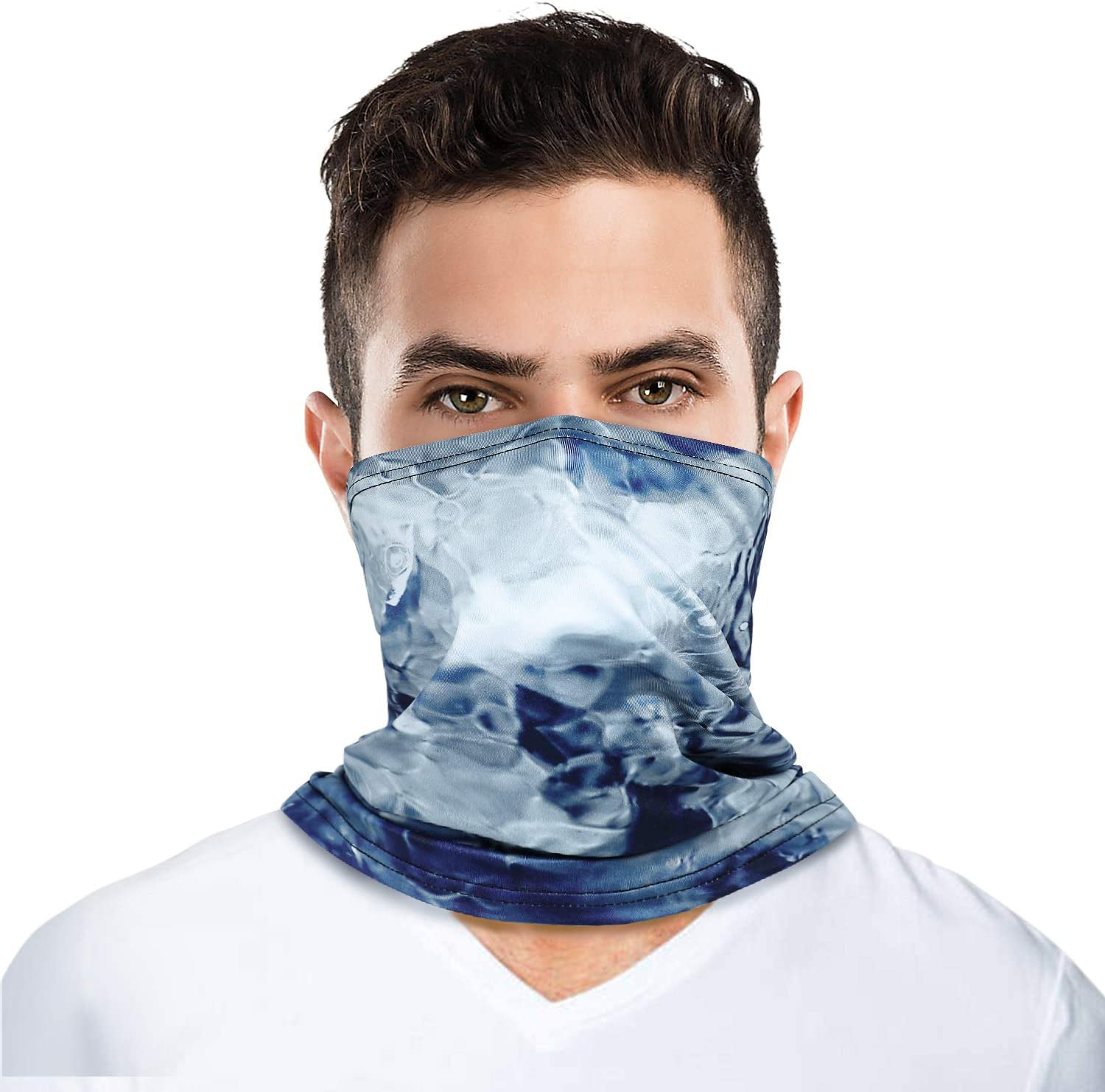 TRUSCEND Neck Gaiter Face Covering Mask Scarf Fishing Cycling Running Hiking Breathable Lightweight Reusable face coverings Balaclava for Men Women