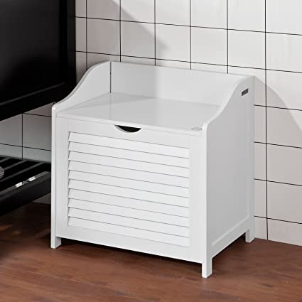 Beau Haotian FSR40 W, White Bathroom Storage Cabinet Chest, Laundry Bin, Laundry  Basket