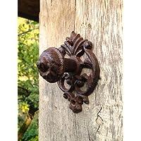 Antikas | Türknauf aus Gusseisen | Geeignet für Gartentore und Haustüren | stabiler Griff