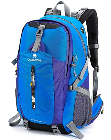 CAMEL CROWN 30L 40L Hiking Backpack Lightweight Trekking Backpack Multi-Functional Daypack Water-Resistant Casual Travel Rucksack for Men Women