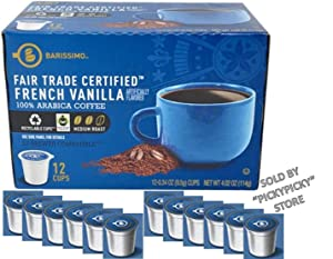 French Vanilla Coffee Single Serve Cups (12) Keurig K-cups By Beaumont Coffee
