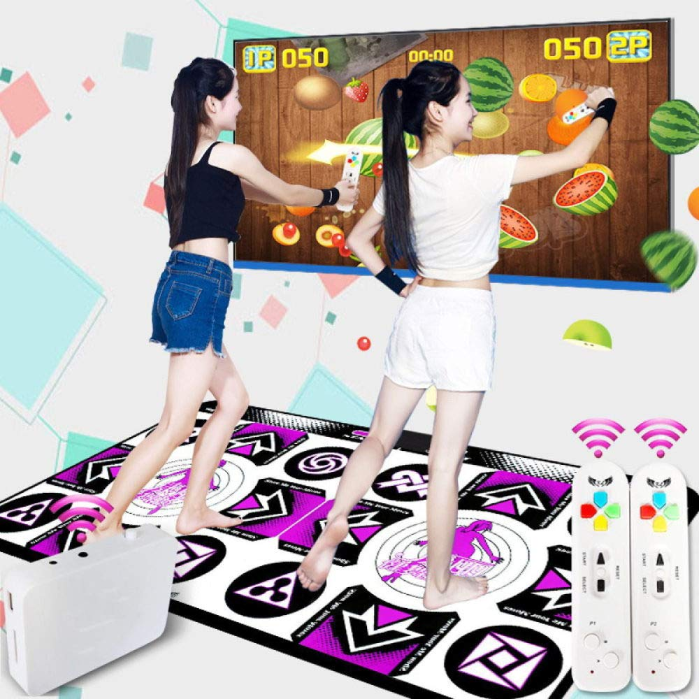 QXMEI Dance Mat Double TV Interface Computer Dual-use Somatosensory Game Console 48.534.511.5cm