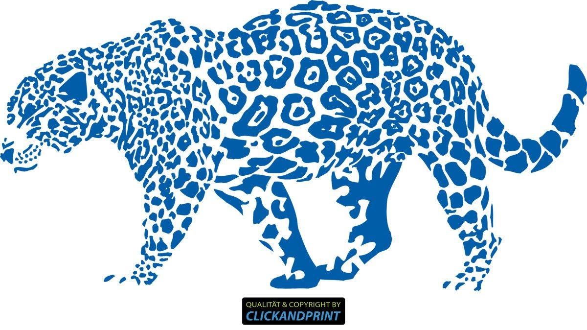 CLICKANDPRINT Aufkleber » Leopard, 150x74,4cm, Türkis • • • Wandtattoo   Wandaufkleber   Wandsticker   Wanddeko   Vinyl B073X7KNXD Wandtattoos & Wandbilder e147b7