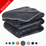 Dream Fly Life Fleece Blanket 380 GSM Anti-static Super Soft Lightweight Warm Fuzzy Bed Blanket,Couch Blanket by (King, Dark Grey)