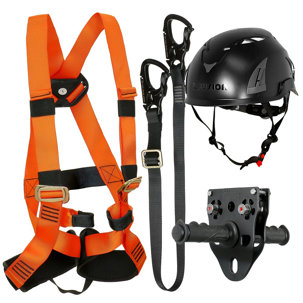 FUSION CLIMB 戦術版キッズ商業ジップラインキットハーネス/ストラップ/トロリー/ヘルメットバンドルFTK-K-HLTH-11   B077MQ6776