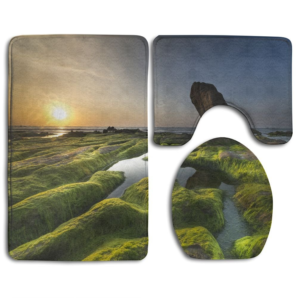 Ttrsudddsyy Coast Moss Province Home Set Of 3 Soft Bath Rug Non-slip ...