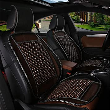 Color : A Car Cushion,Summer Breathable Wooden Bead Conjoined Cushion Car Seat Cover Massage Cushion