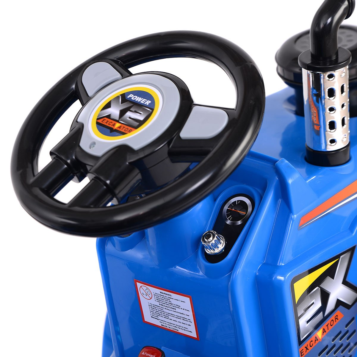 Blue 12V Battery Operated Children Tractor Truck with MP3 System /& Horn Sound Button COSTWAY Kids Electric Ride On Toy Car CE Certification