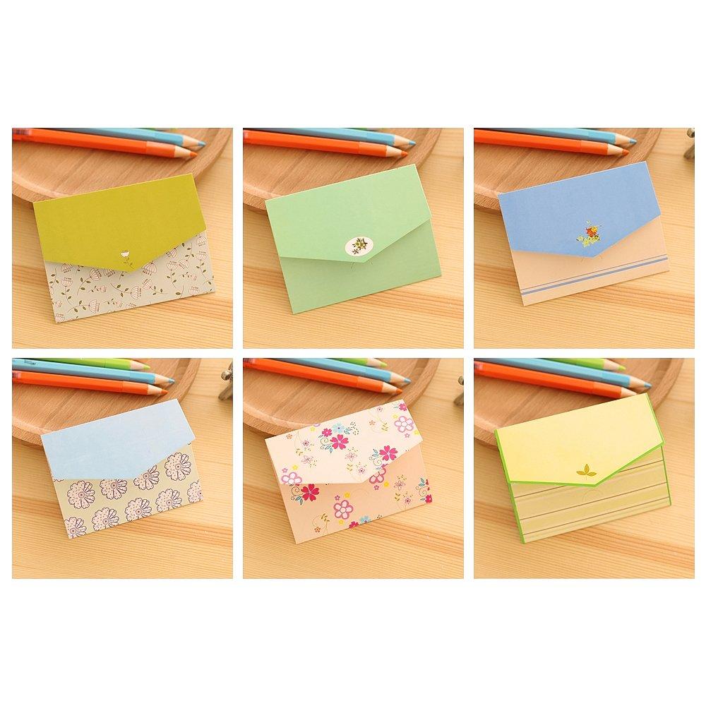 Zhi Jin Lot de 36/mini Memory of Cambridge Message carte Lettre enveloppes Coque Memo Coffret cadeau pour f/ête danniversaire couleur al/éatoire