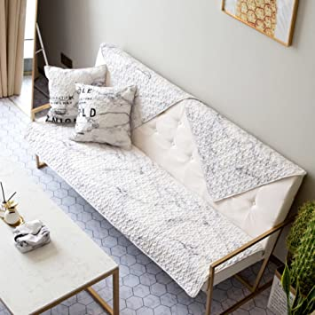 Wondrous Amazon Com Hmdx Cotton Quilted Sofa Cover Creative Marble Machost Co Dining Chair Design Ideas Machostcouk