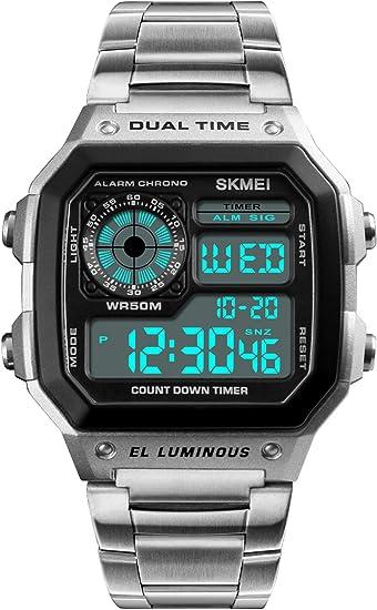 Amazon.com: PASOY - Reloj digital multifunción para hombre ...